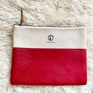 FleaBags Limited Edition Leather & Canvas Purse